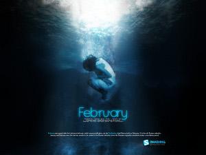 fevrier09 Fonds écran calendrier Février 09